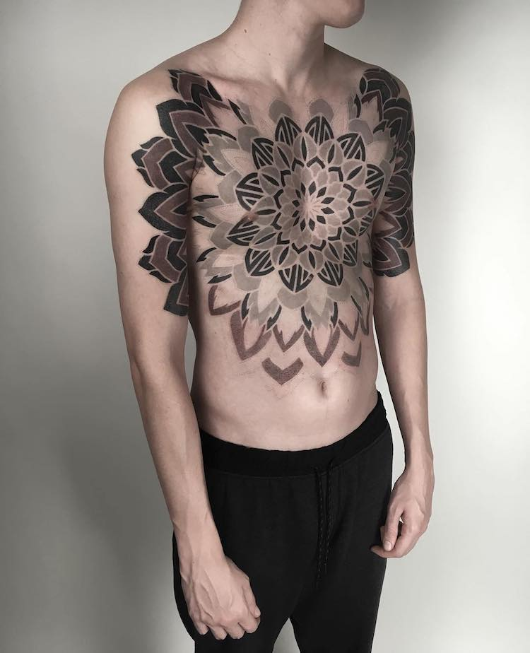 Mesmerizing Geometric Tattoos by Corey Divine