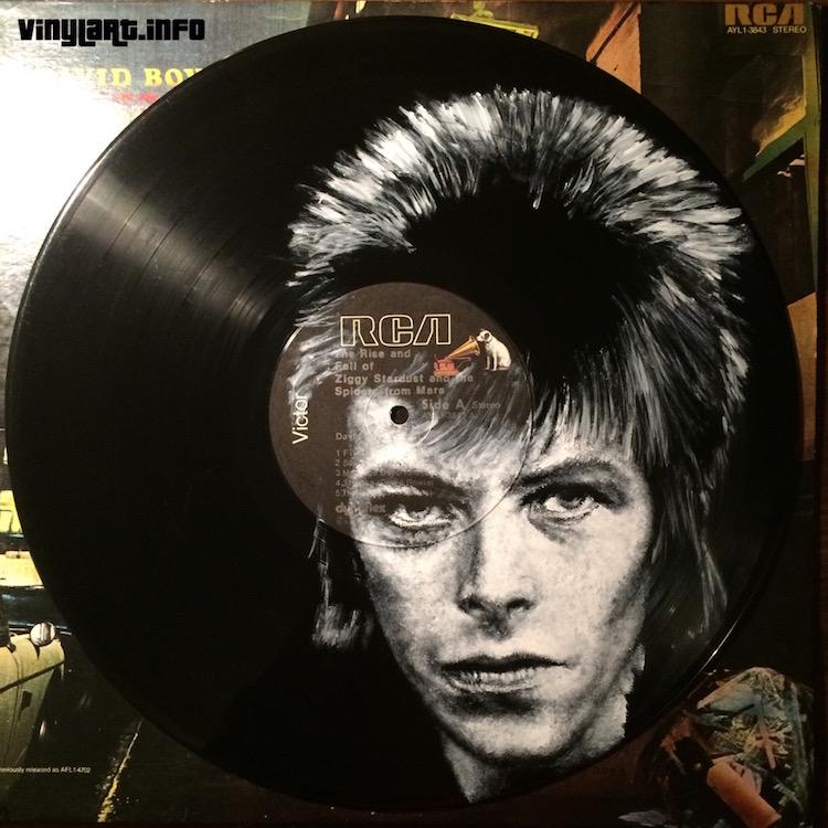 daniel edlen vinyl art david bowie
