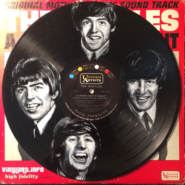 daniel edlen vinyl art beatles