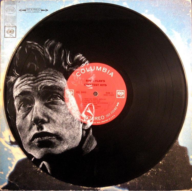 daniel edlen vinyl art bob dylan