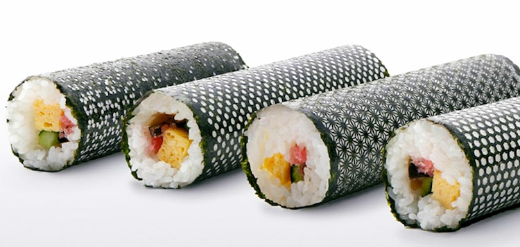 laser-cut seaweed for sushi