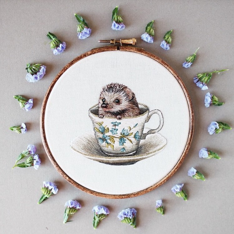 Nature inspired embroidery art to melt away the winter blues