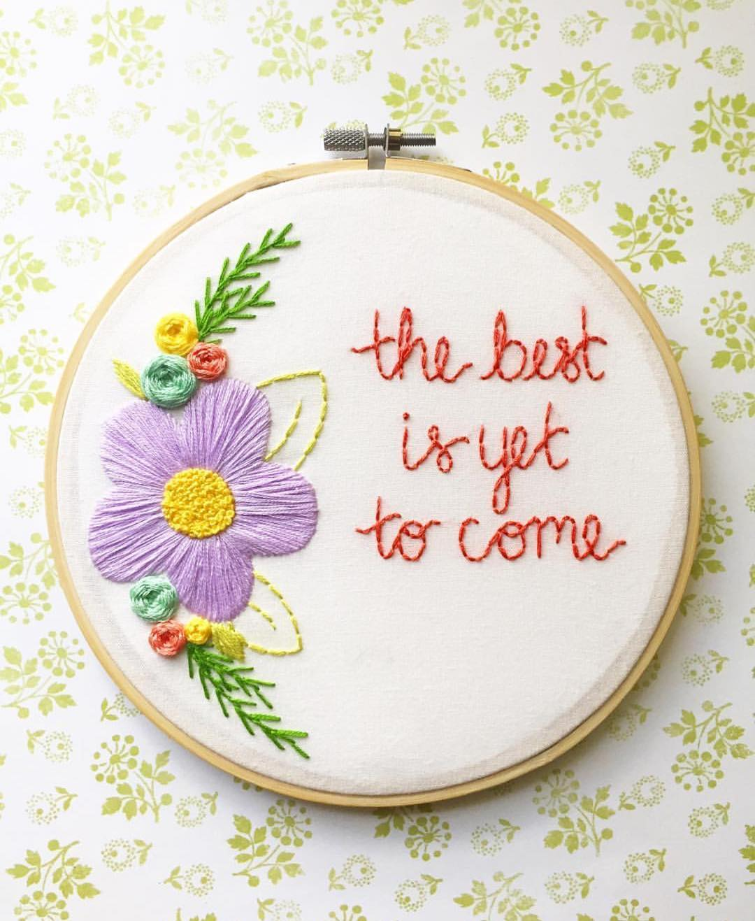 Bright sunny embroidery to melt away the winter blues. Includes spring flowers and animals.