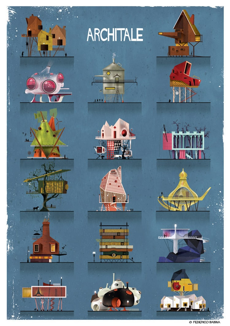 Federico Babina Paints Fairy Tale Architecture