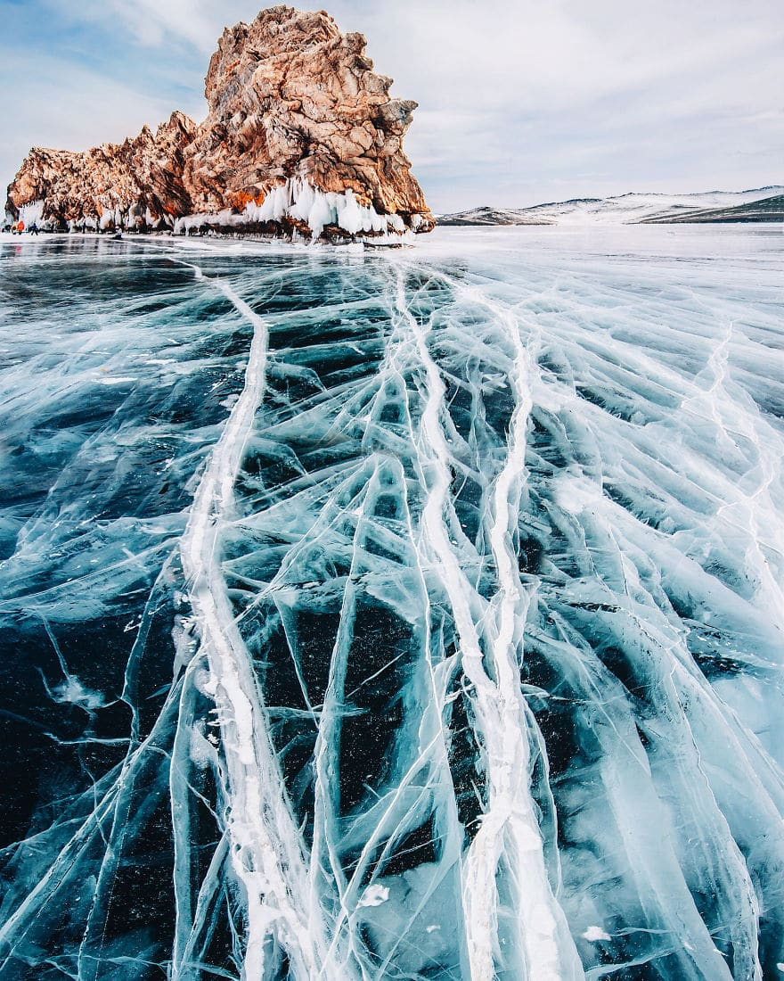 Frozen Lake Baikal by Kristina Makeeva