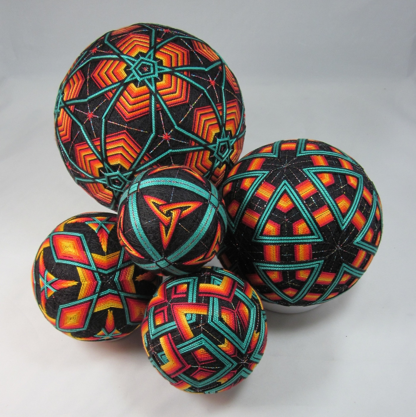 Temari Balls by Judy Tepley