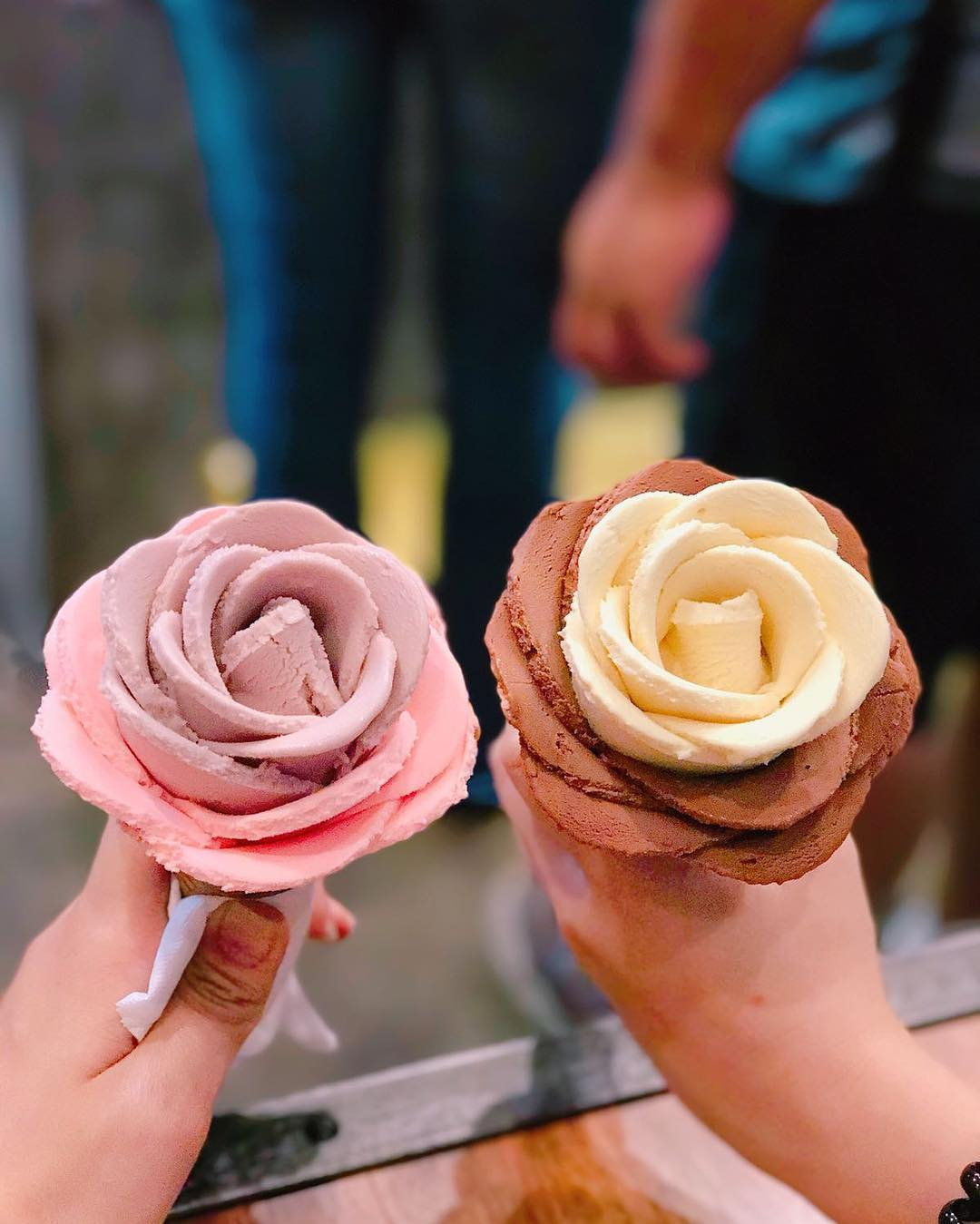 i-creamy flower gelato rose petals ice cream