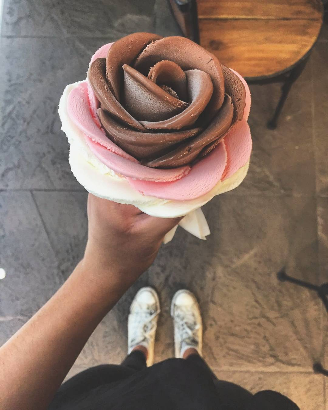 i-creamy flower gelato rose petals ice cream