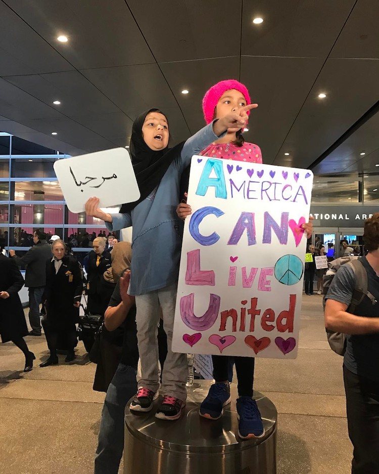 Inspiring Immigration Ban Protest Signs from Across the U.S.