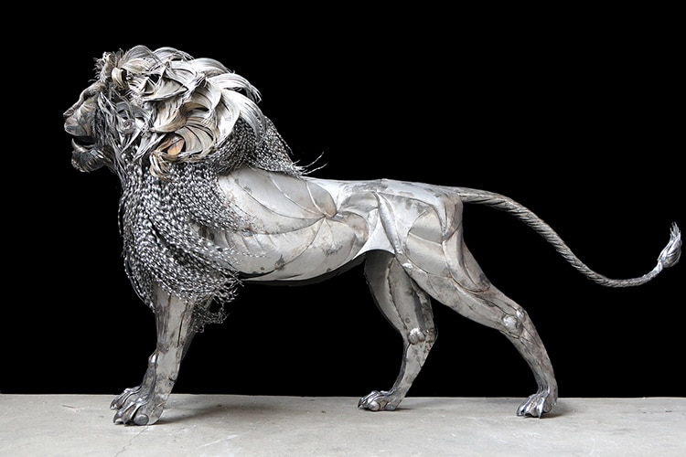 Metal Lion Sculpture by Selcuk Yilmaz