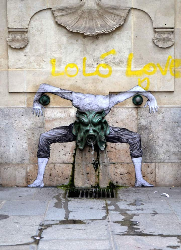 Levalet wheat paste posters - 15 Playful Street Artists