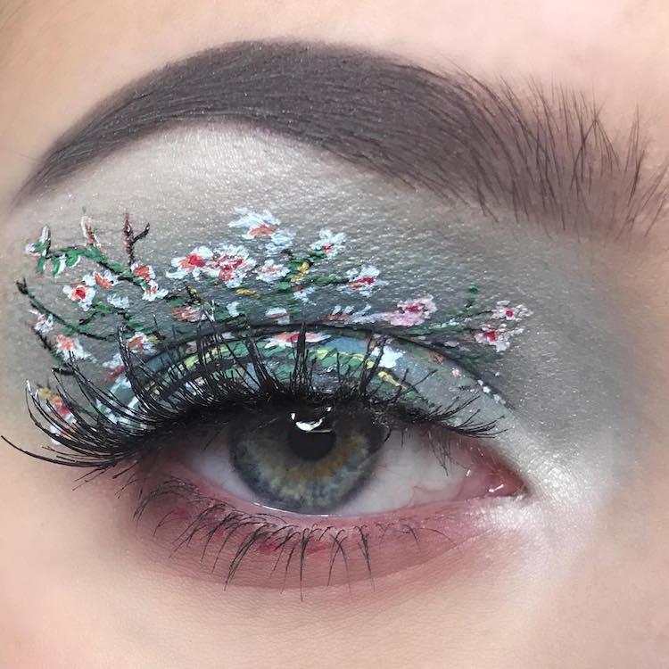 eye makeup artist almond blossom van gogh eyelid