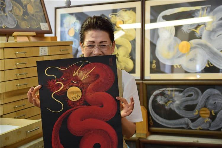 one stroke painting dragon ippitsuryu sumi-e painting