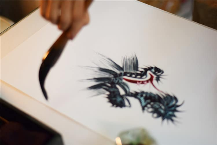one stroke painting dragon ippitsuryu sumi-e painting