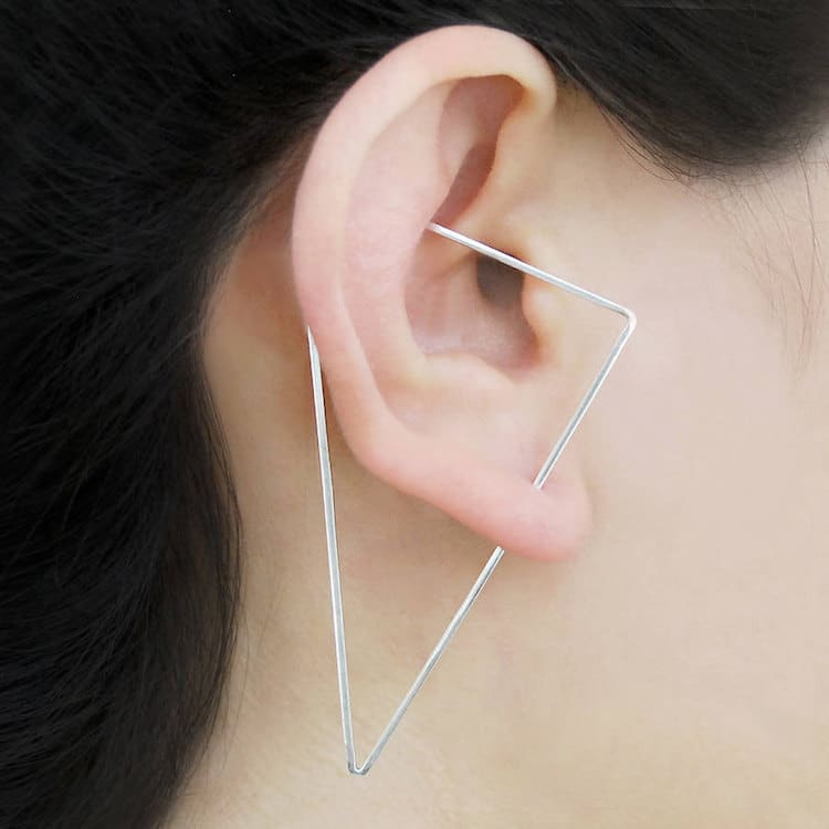 Optical Illusion Earrings are a Playful Addition to Everyday Style