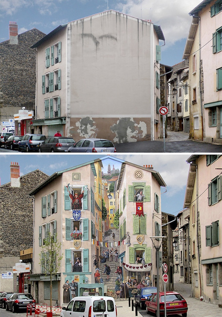 3d street art trompe l'oeil mural patrick commecy