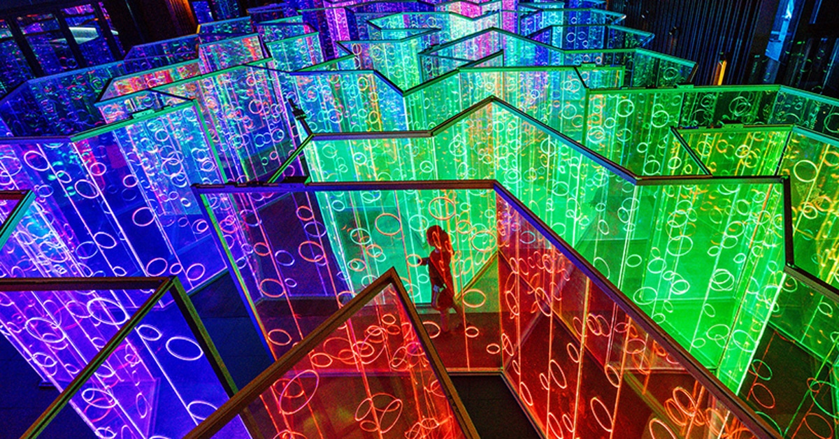 Light Installation By Brut Deluxe Is An Exquisite Rainbow