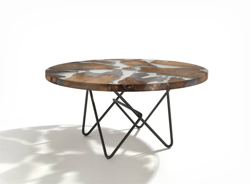Sculptural Resin Table Made From YearOld Kauri Wood - This amazing resin table is made using 50000 year old wood