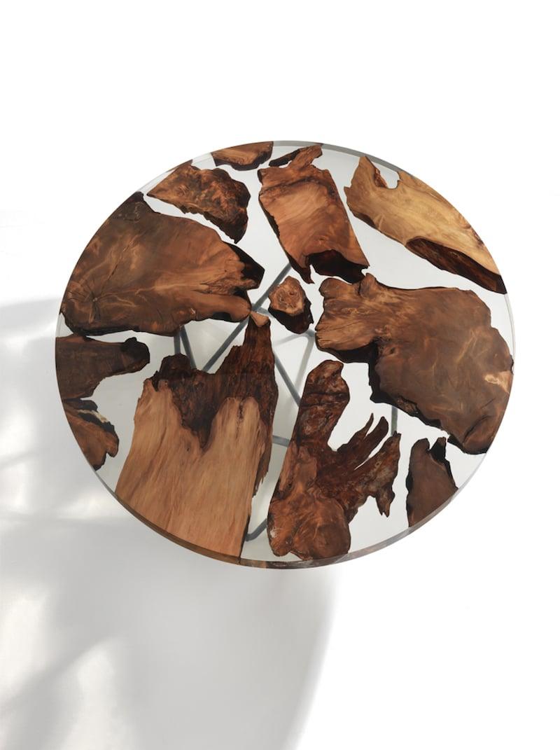 kauri wood resin table riva 1920 furniture design