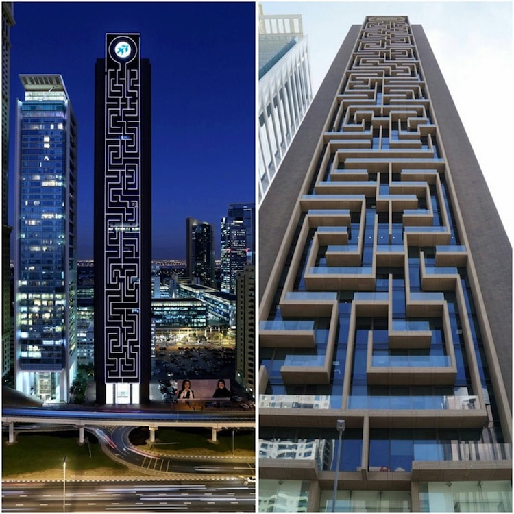 vertical maze tower dubai rostamani tower crazy architecture