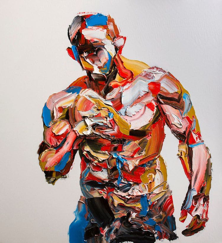 Energetic Palette Knife Portraits by Salman Khoshroo