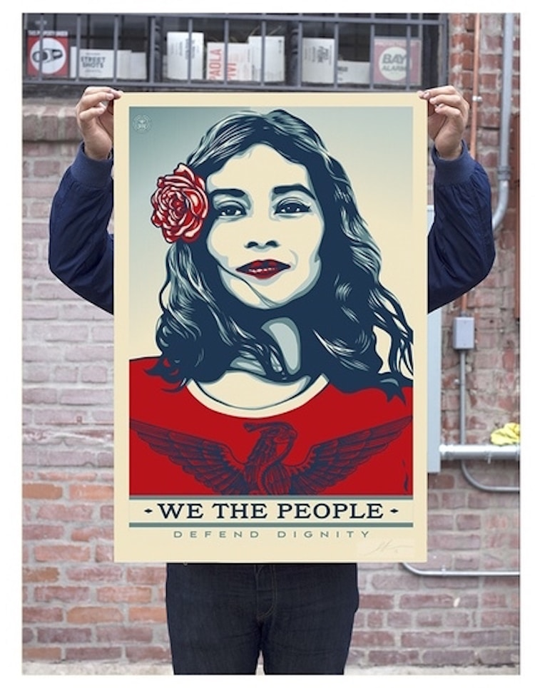 we the people inauguration posters street art amplifier foundatios Shepard fairey ernesto yerena jessica saboga