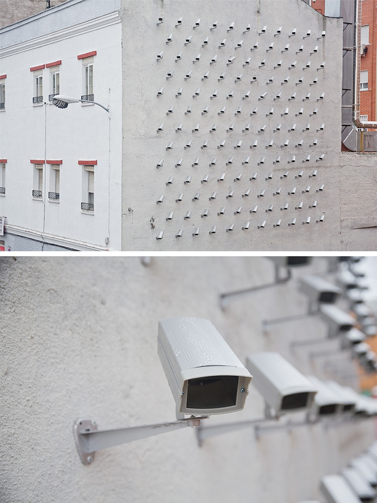 Spy the street artist installed a wall of cameras as playful commentary - 15 Playful Street Artists