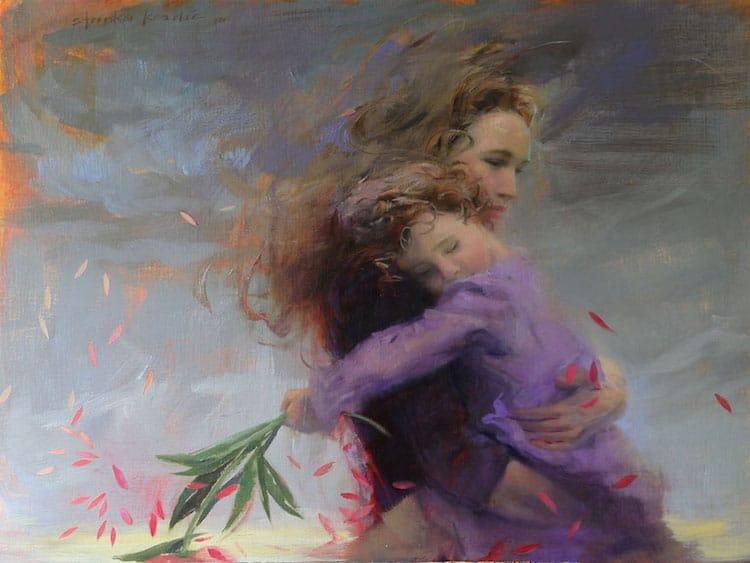 stanka kordic oil paintings ethereal female portraits