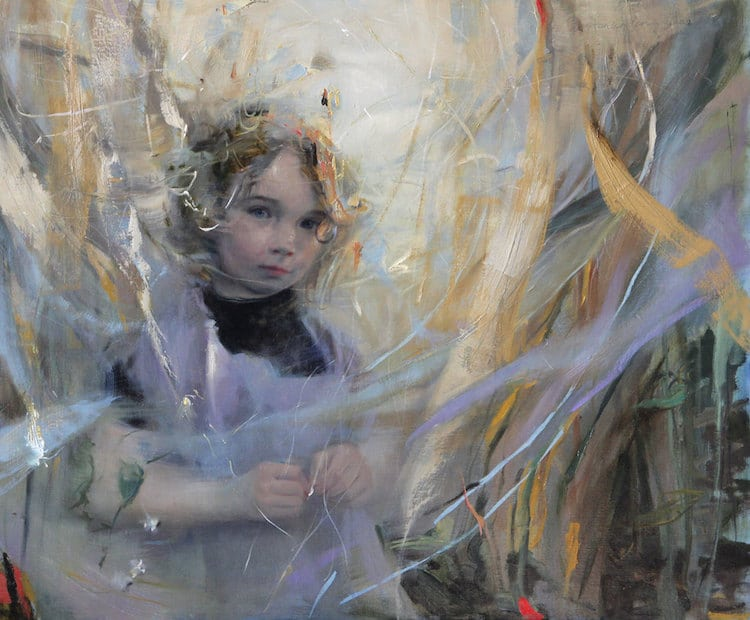 stanka kordic oil paintings ethereal female portraits