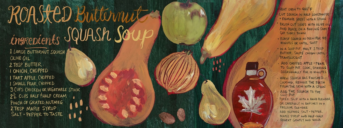 Collection of Illustrated Recipes from Artists Around the World