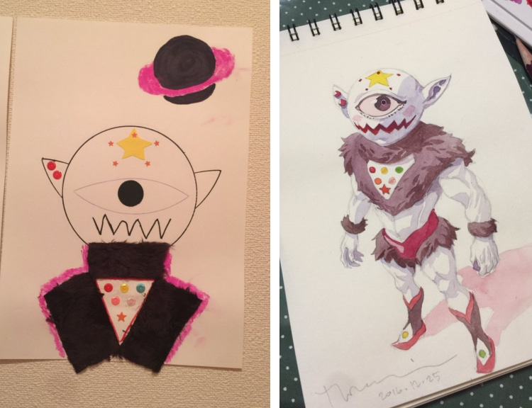 thomas romain transforms son s drawings into anime characters