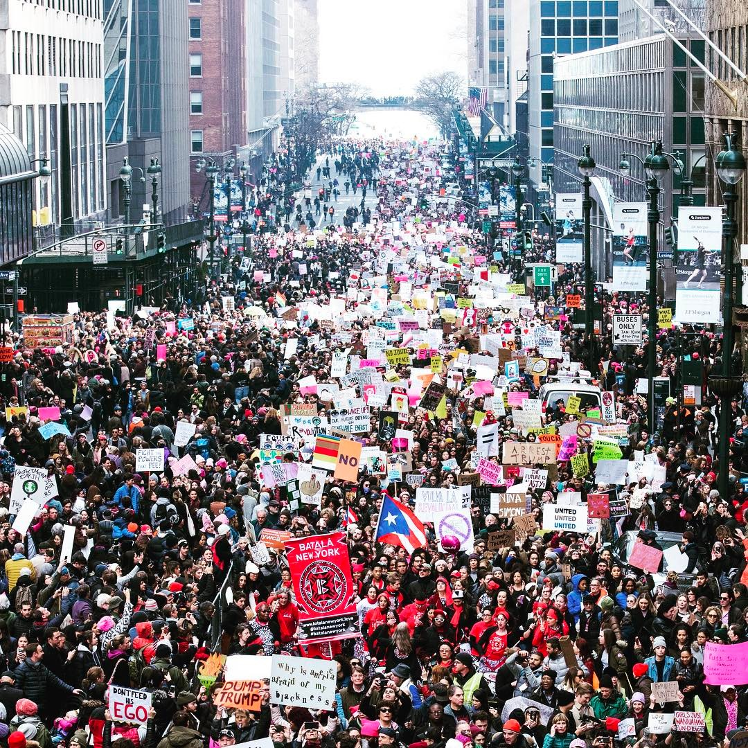 women's march new york sister march peaceful demonstration