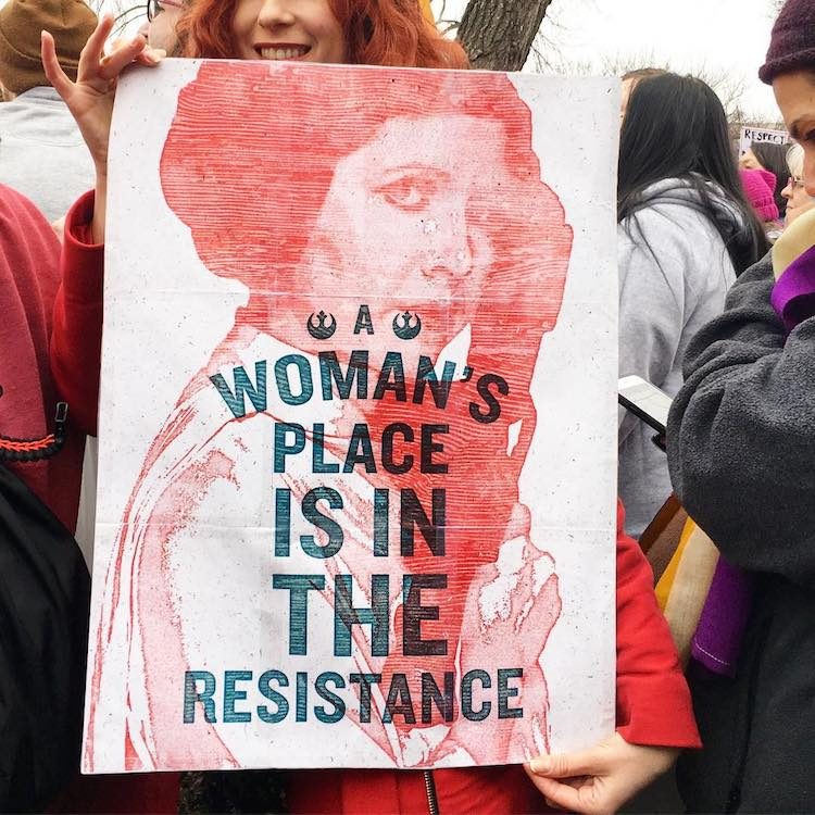 Clever Women's Marches signs from Around the World