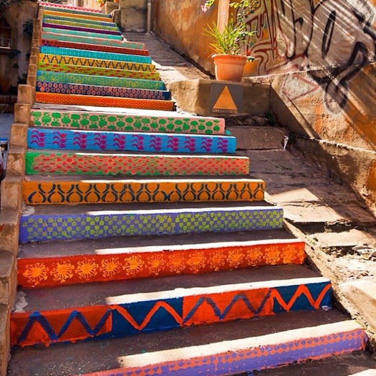 Awesome Colorful Stair Art
