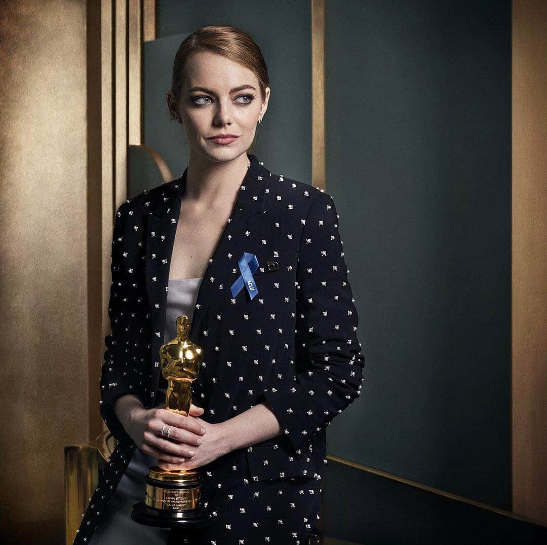 Emma Stone at the 2017 Vanity Fair Oscar Party Portraits