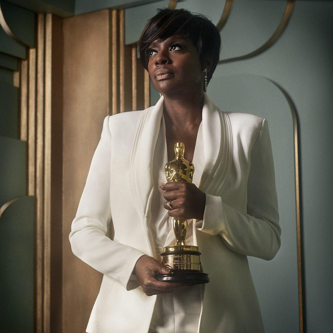 Viola Davis at the 2017 Vanity Fair Oscar Party Portraits