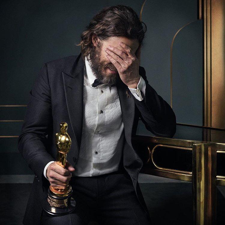 Casey Affleck at the 2017 Vanity Fair Oscar Party Portraits