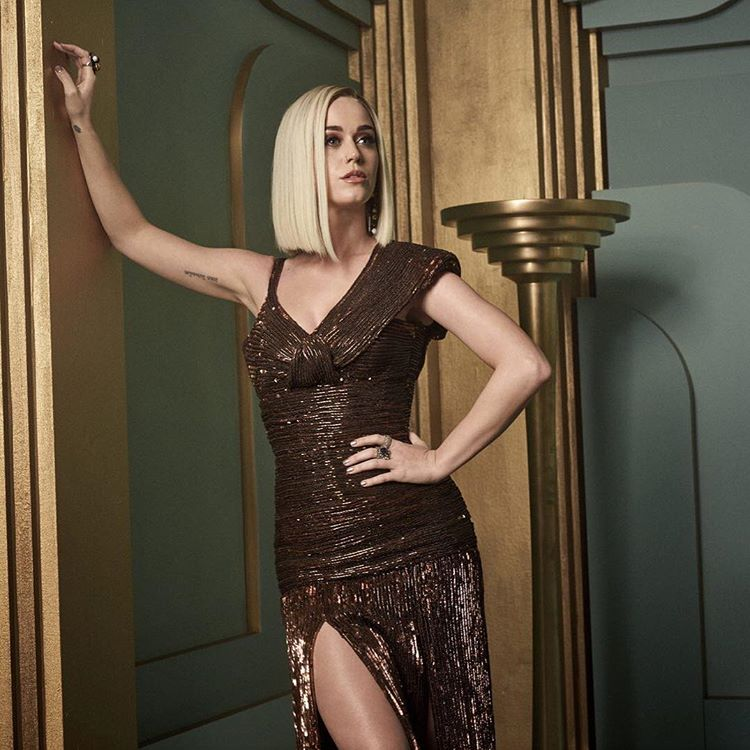 Katy Perry at the 2017 Vanity Fair Oscar Party Portraits