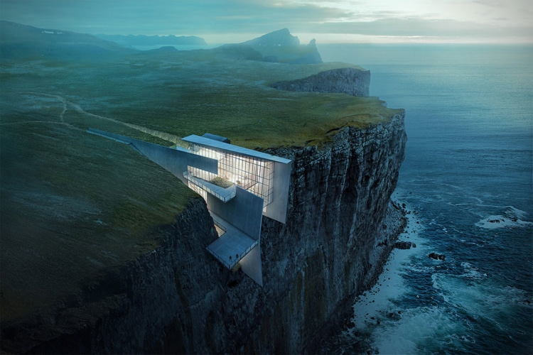 concept architecture cliff house iceland