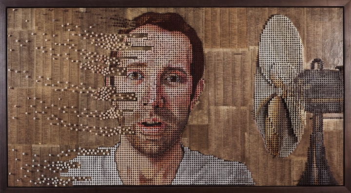 Andrew Meyers innovative art made of screws
