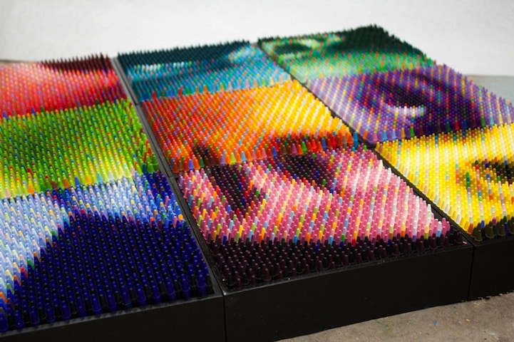 Christian Faur innovative crayon art