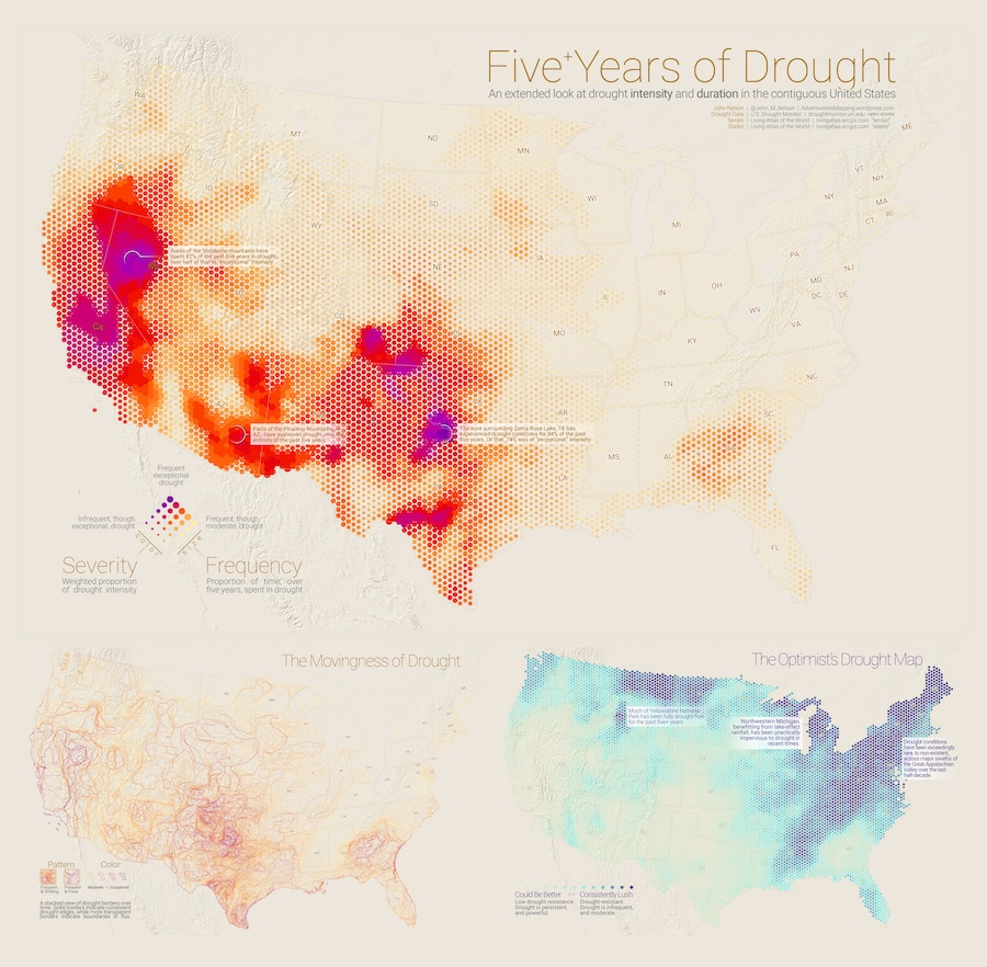 Infographics about drought