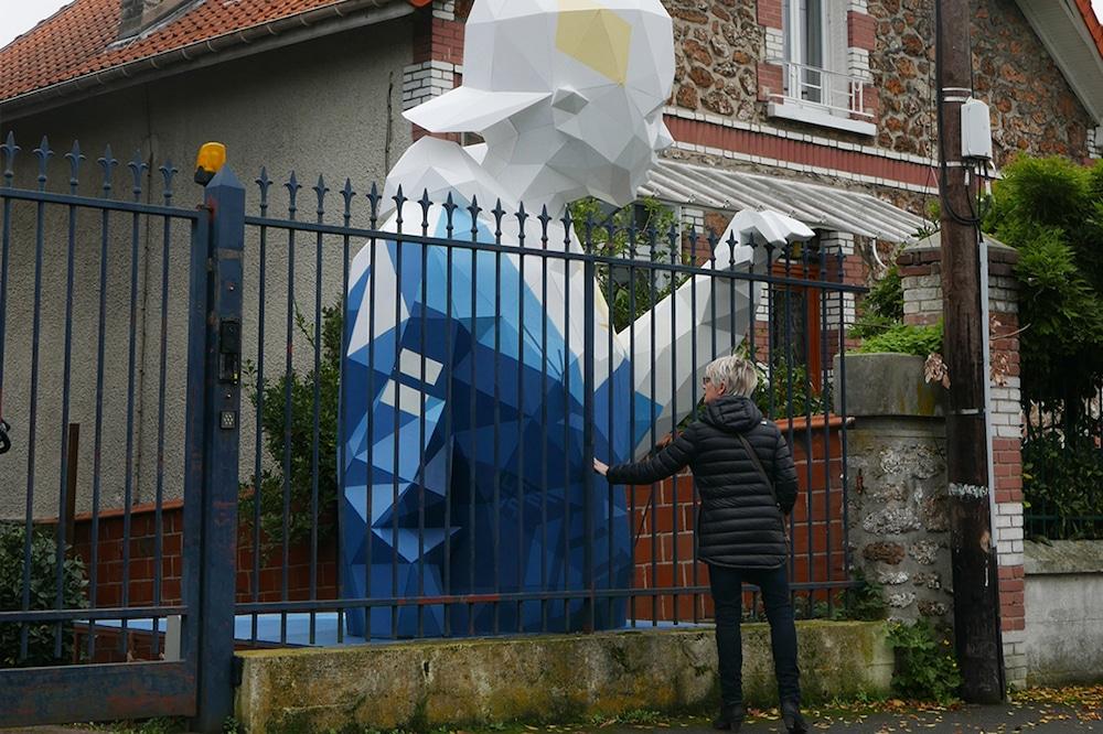David Mesguich Geometric Sculptures public art