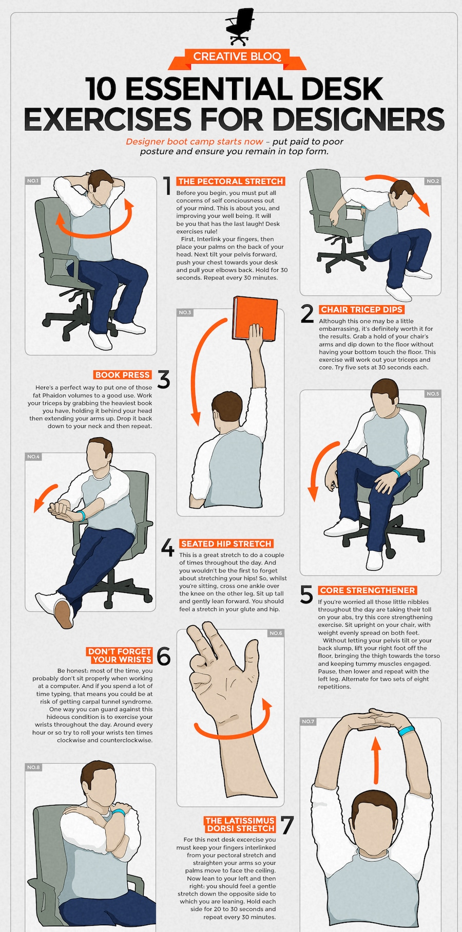 workplace information desk exercises visual data