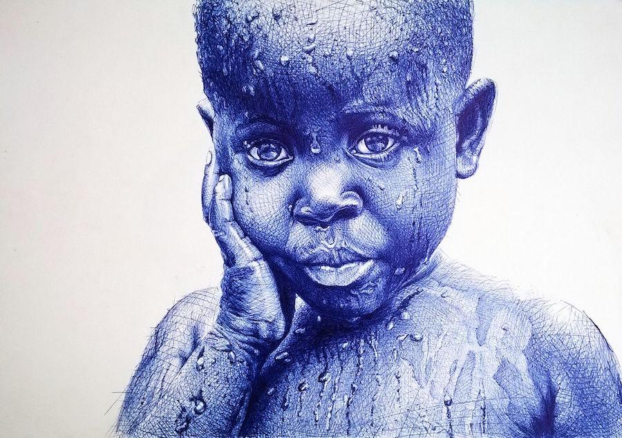 Enam Bosokah photorealistic portraits