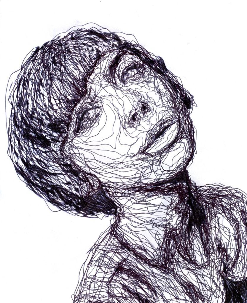Kris Trappeniers Continuous Pen Portrait