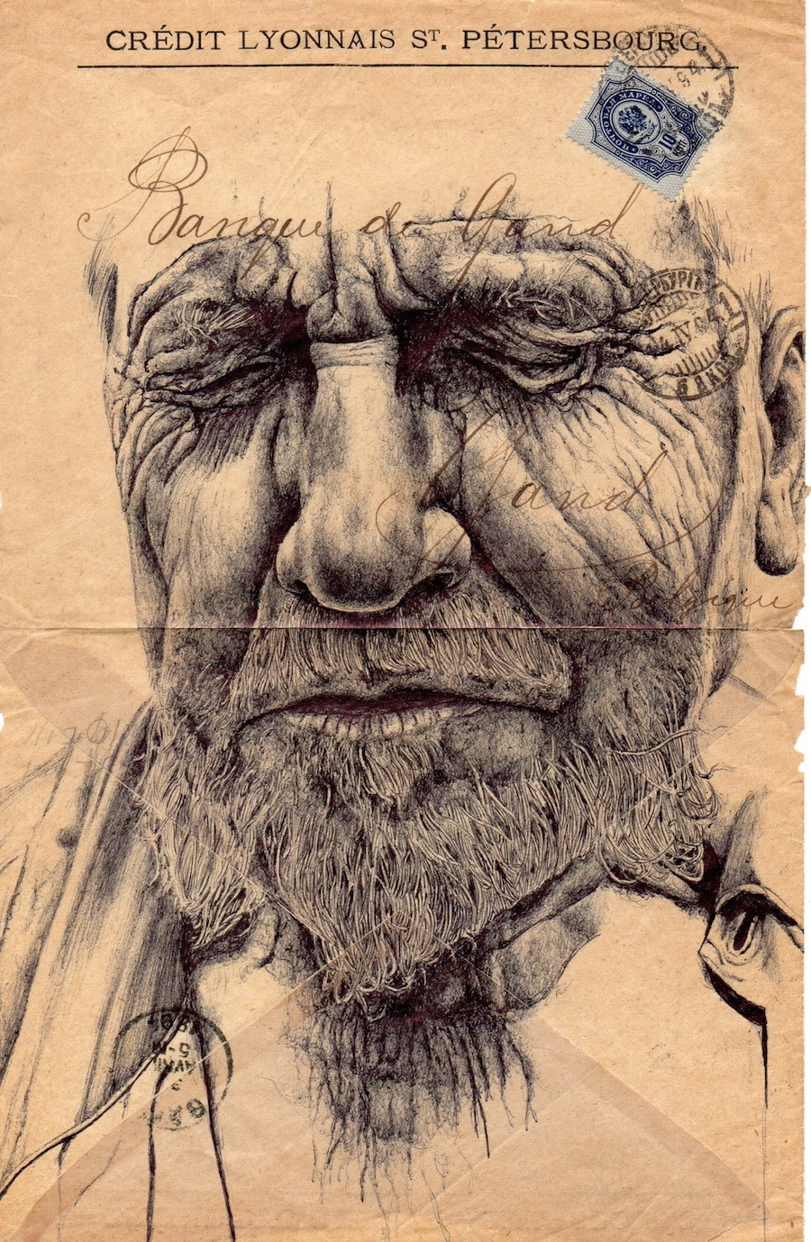 Mark Powell pen art potraits