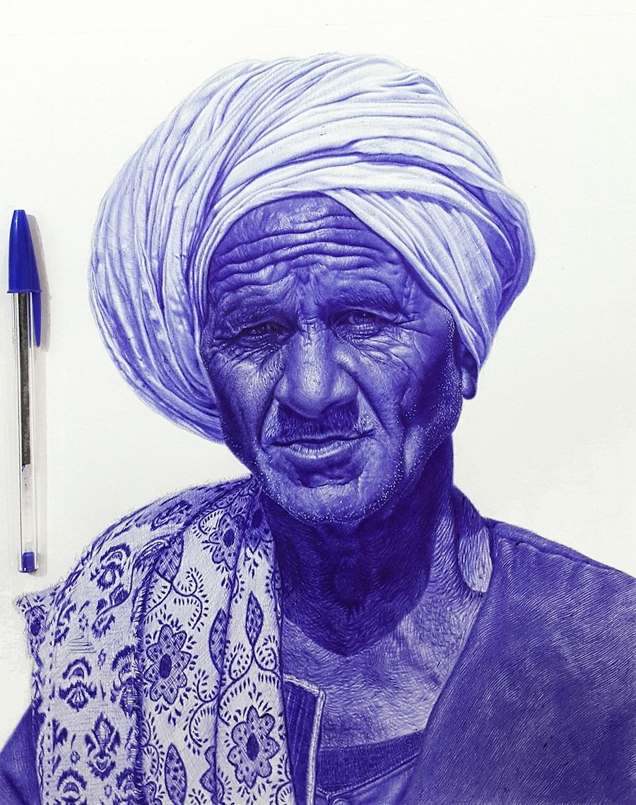 Mostafa Khodeir Pen Drawing