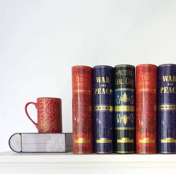 book-shaped tea tins novelteas puns