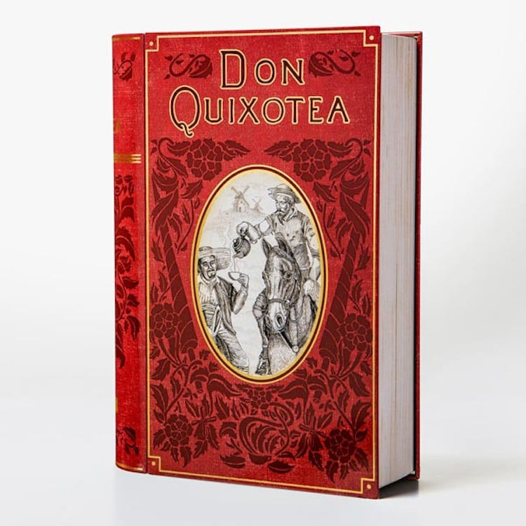 don quixotea book-shaped tea tins novelteas puns